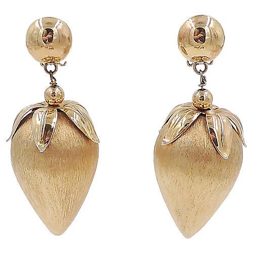 1960s Napier Strawberry Earrings