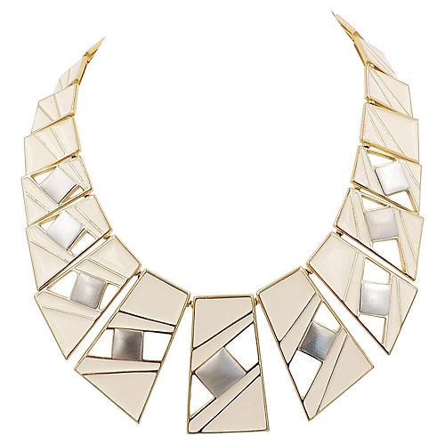 Trifari Enamel Modernist Necklace, 1987