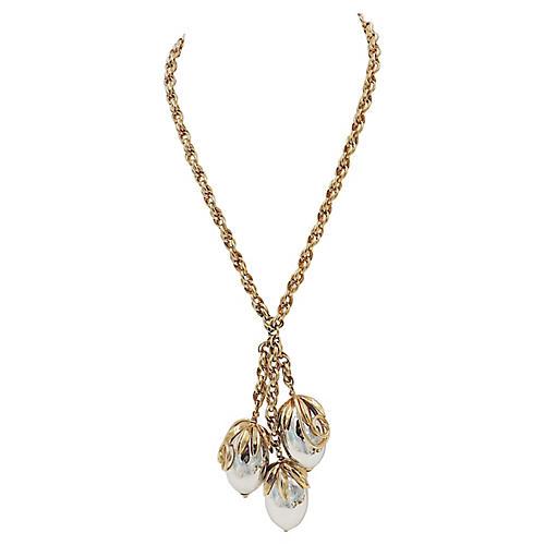1950s Napier Cumquat Pendant Necklace