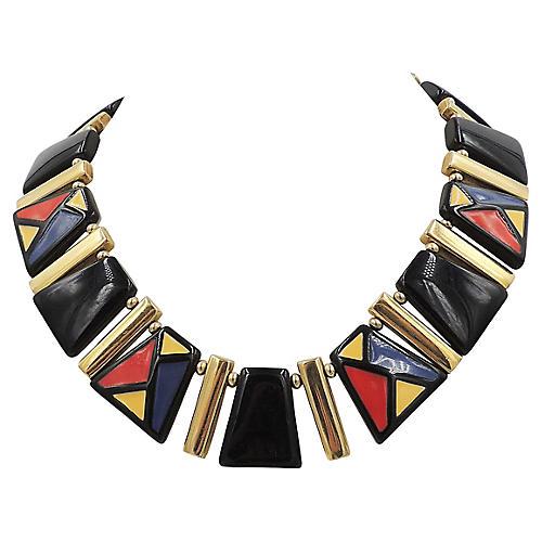 Napier Color Block Necklace, 1985