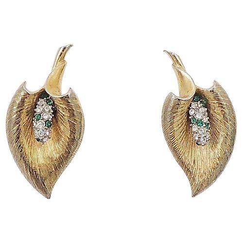 1950s Boucher Calla Lily Earrings