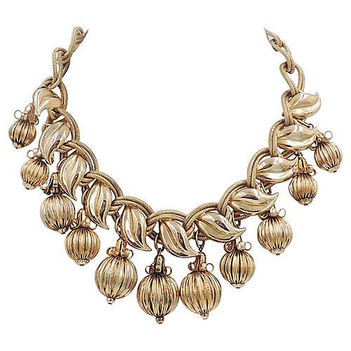 1950s Napier Goldtone Drop Necklace