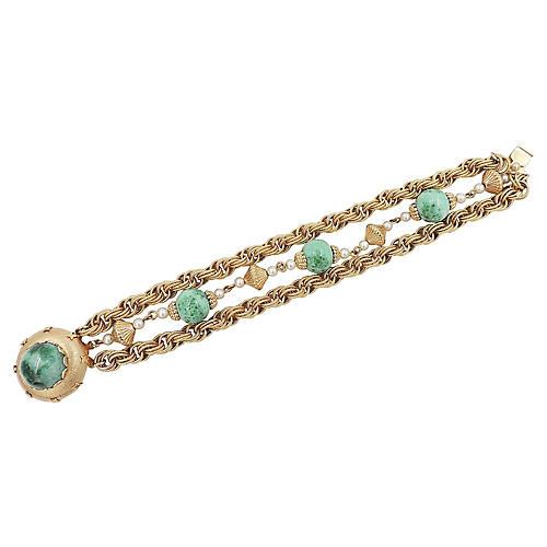 1950s Napier Faux-Jade Bracelet