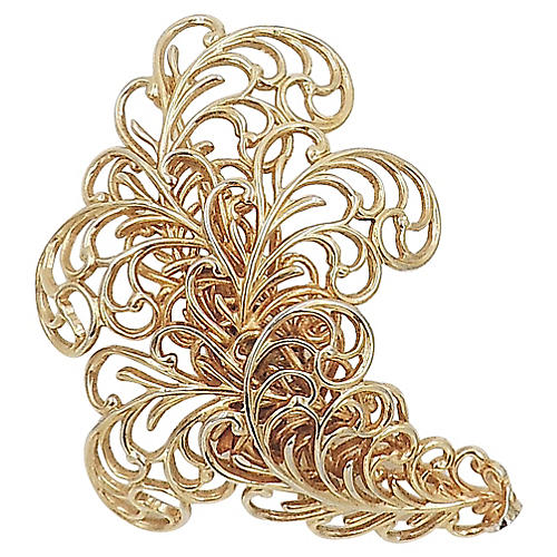 1960s Napier Golden Fern Pin
