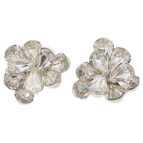 1960s Napier Rhinestone Earrings