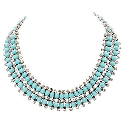 1960s Kramer Faux-Turquoise Necklace