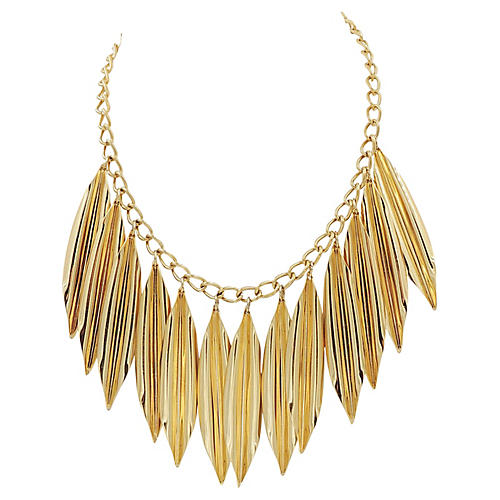 1970s Napier Modernist Leaf Necklace