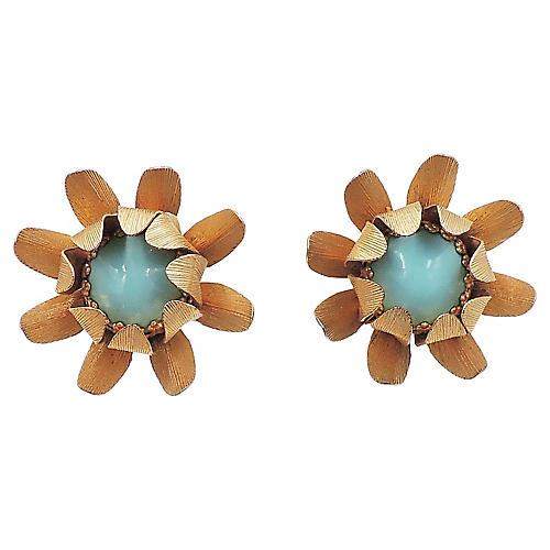 1960s Napier Flower Earrings