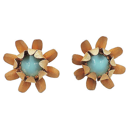1960s Napier Flower Earrings