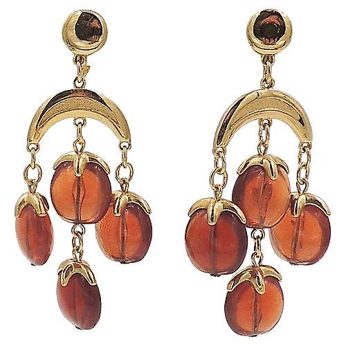 1970s Trifari Beaded Earrings