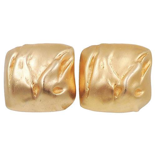 1980s Balmain Modernist Earrings