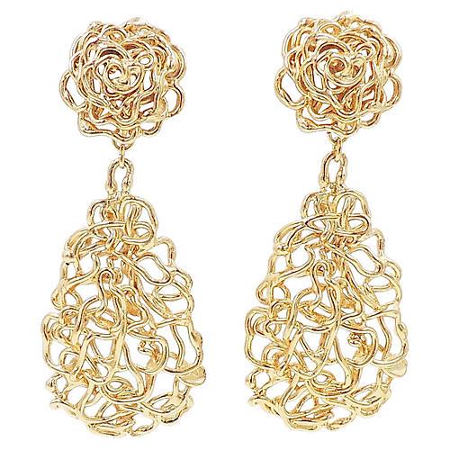 Napier Golden Tangle Earrings