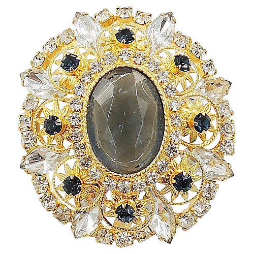 Delizza & Elster Faux-Sapphire Brooch