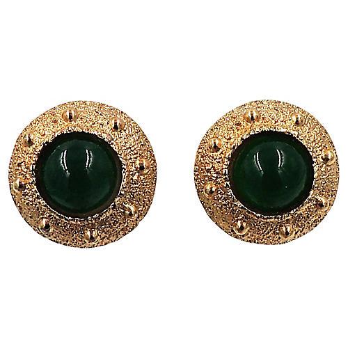 Napier Cabochon Earrings, 1971
