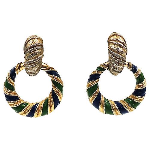 Jomaz Interchangeable Enamel Earrings