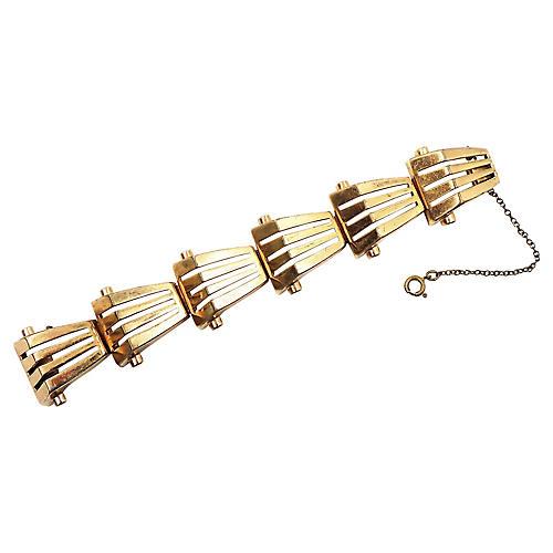 1940s Monet Goldtone Link Bracelet