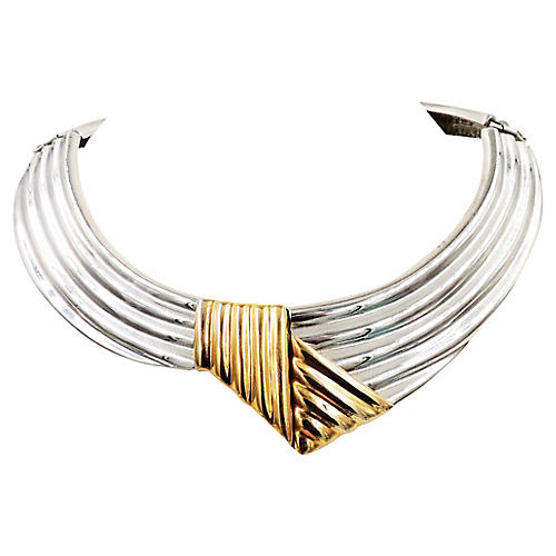 1980s Alexis Kirk Collar Necklace