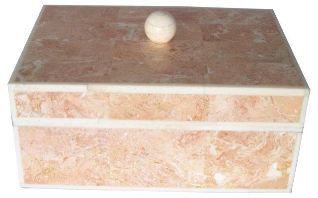 Pink Stone Jewelry Box
