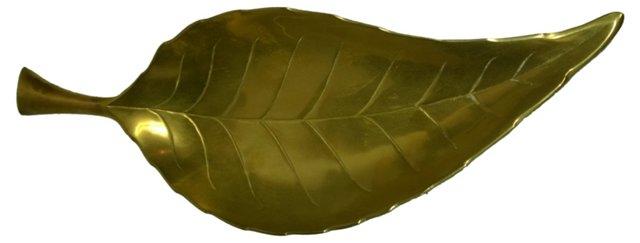 Brass Leaf-Shaped Plate