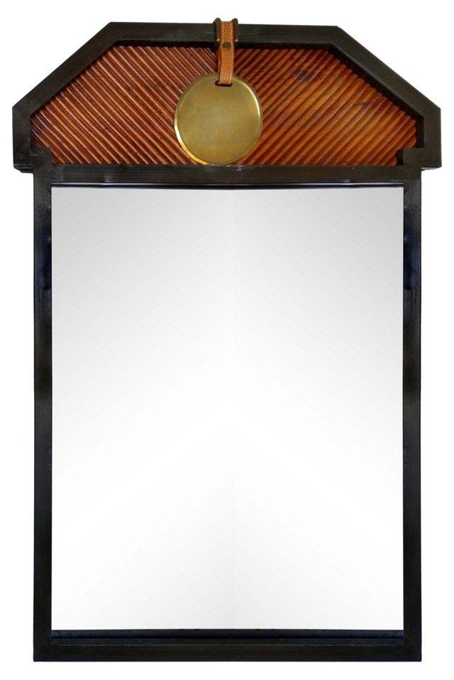 Mirror w/  Brass Disk