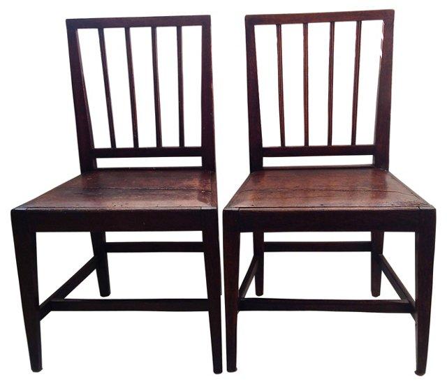 Swedish  Chairs, C. 1800, Pair