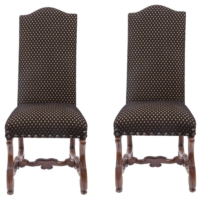 Spanish Baroque-Style Chairs,   Pair