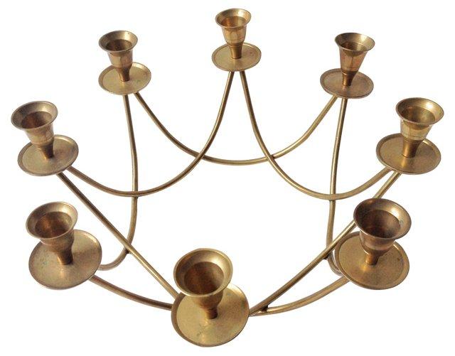 Brass Candelabrum Centerpiece