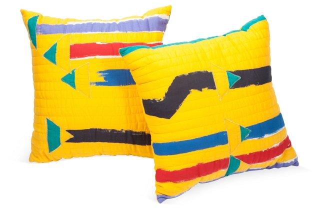 Michaele Vollbracht Silk PIllows, Pair