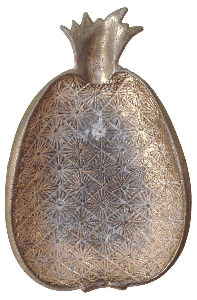 Brass Pineapple Ashtray