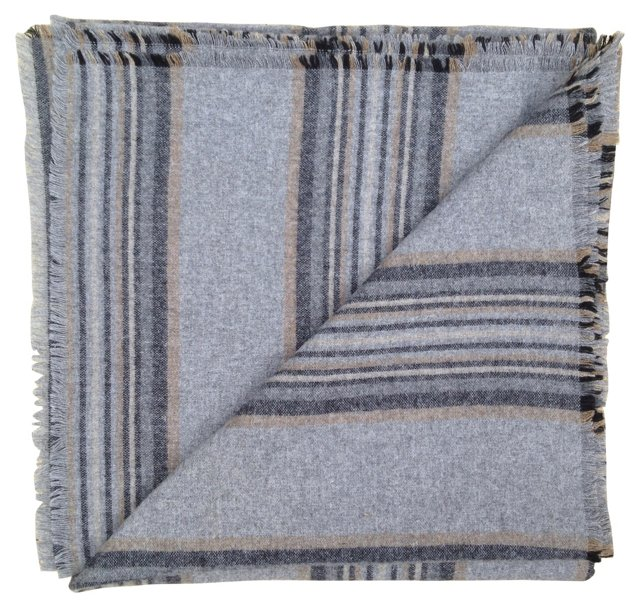 Striped Wool Throw
