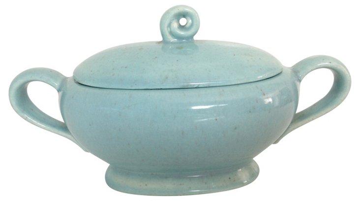 Turquoise Sugar Jar