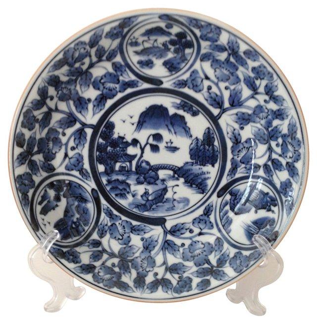 Blue & White Serving Bowl