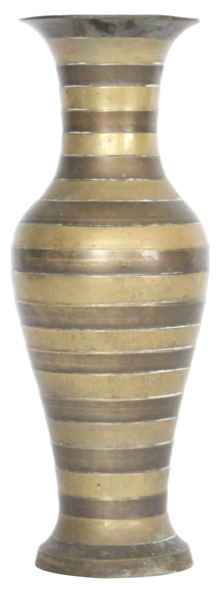 Striped Brass Vase