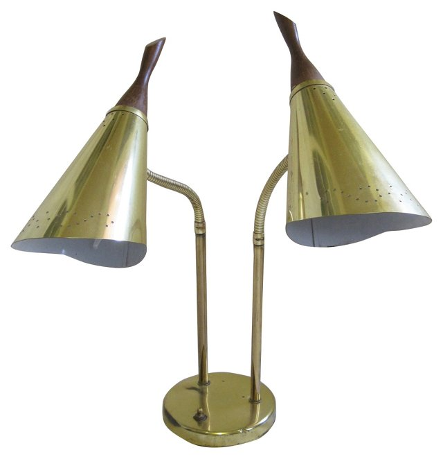 Midcentury Double-Head Desk Lamp