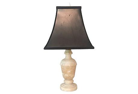 Carved Alabaster Lamp