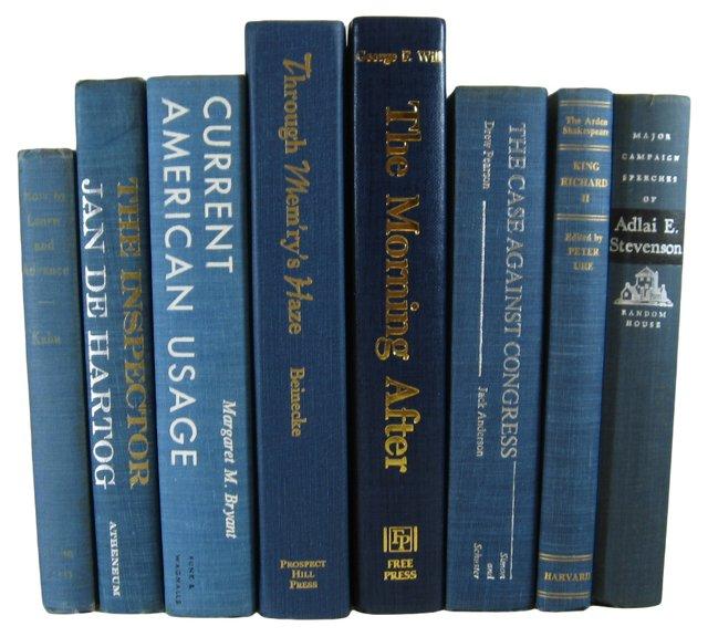 Blue  Book Set, S/8