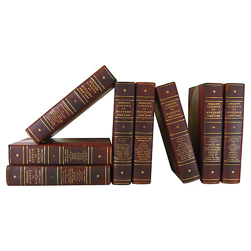 Leather Antique Book Collection, 8-Vols