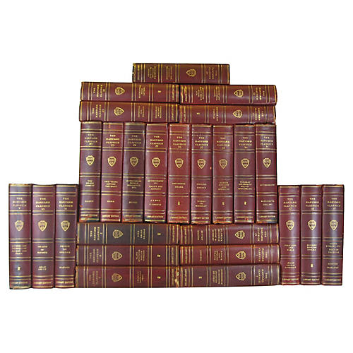 Antique Leather Harvard Classics, S/26