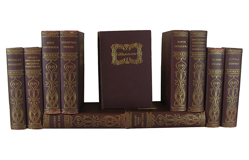 Antique Works of Charles Dickens, S/11