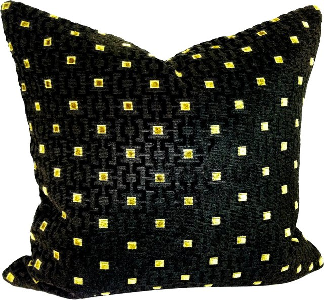 Geometric Cut Velvet Pillow