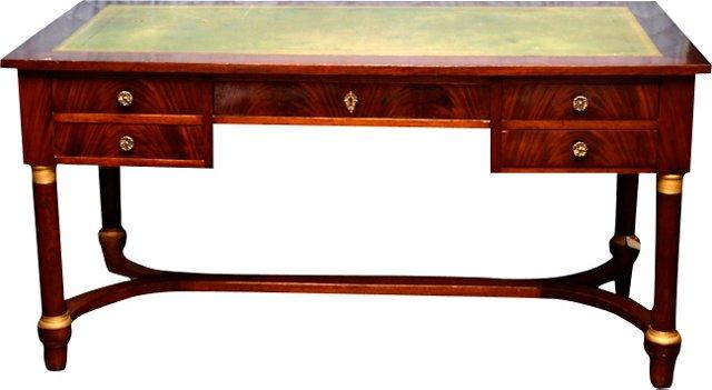 Antique Leather-Top Desk