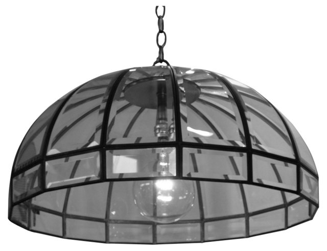 Beveled Glass Dome Pendant