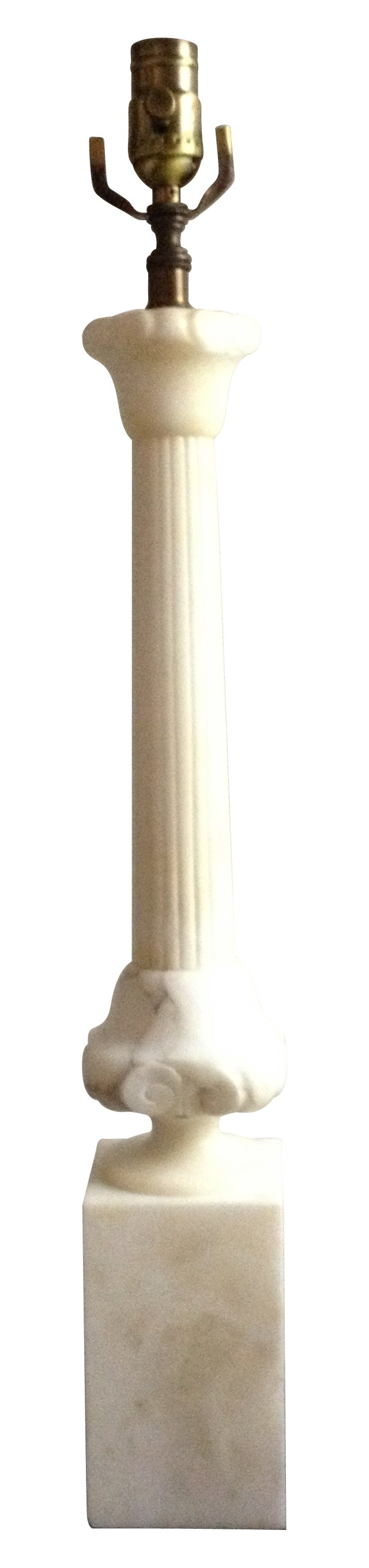 Alabaster Classical Column Lamp