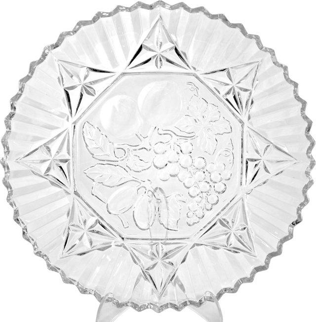Fluted Glass Platter