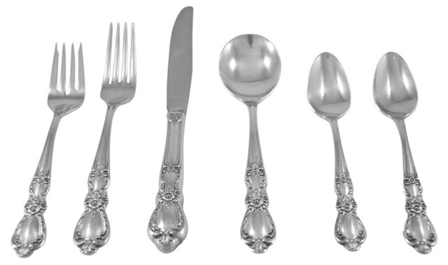 Heritage Silver Flatware, Svc. For 4