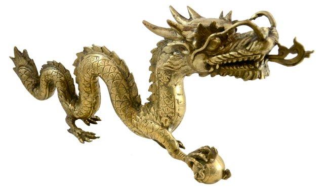 Brass Guardian Dragon