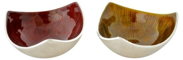 Midcentury Bowls, Pair