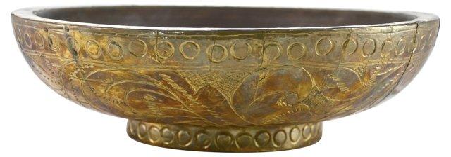 Antiqued Brass Bowl