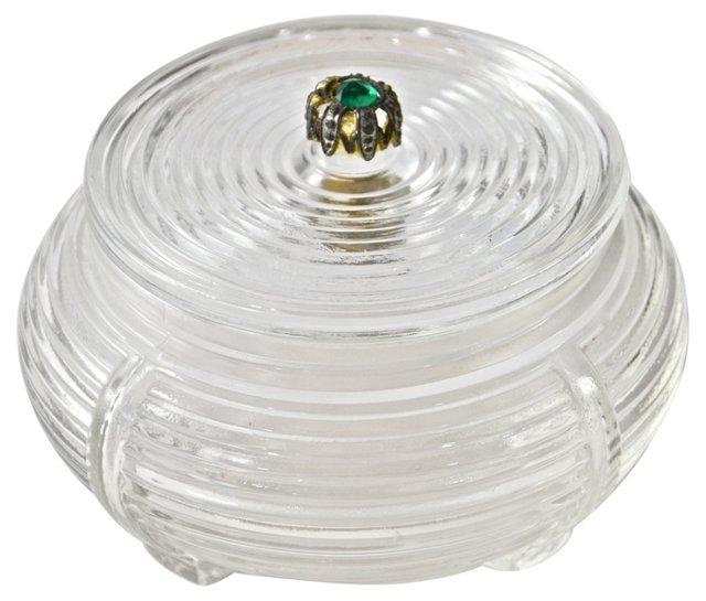 Ribbed Glass Box