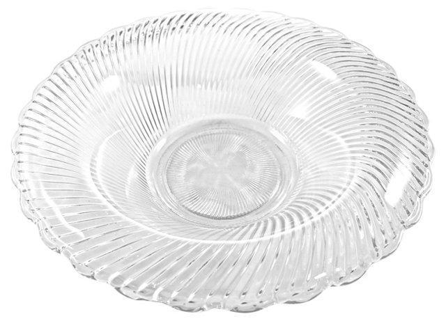 1930s Optic Glass Bowl